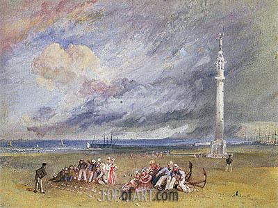 Yarmouth Sands, c.1824/30 | J. M. W. Turner | Painting Reproduction