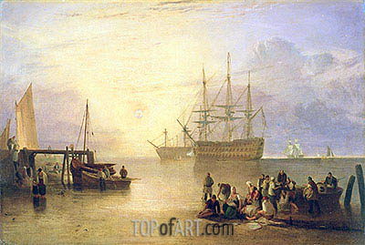 The Sun Rising through Vapour, c.1809 | J. M. W. Turner | Painting Reproduction