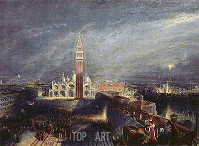 St. Mark's Place, Venice, undated | J. M. W. Turner | Painting Reproduction