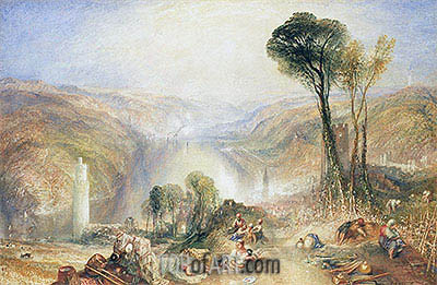 Oberwesel, undated | J. M. W. Turner| Painting Reproduction