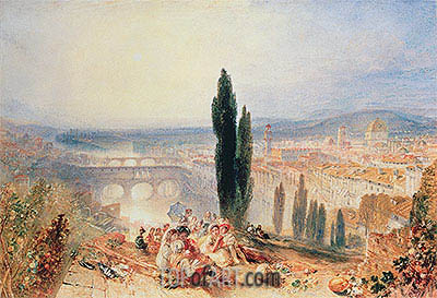 Florence from near San Miniato, 1828 | J. M. W. Turner| Painting Reproduction
