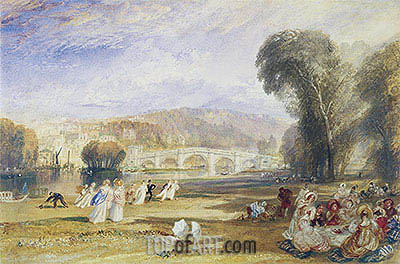 Richmond Hill and Bridge, Surrey, c.1831 | J. M. W. Turner | Painting Reproduction
