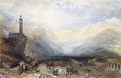 The Splugen Pass, c.1842/43 | J. M. W. Turner| Painting Reproduction