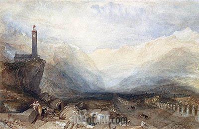 J. M. W. Turner | The Splugen Pass, c.1842/43