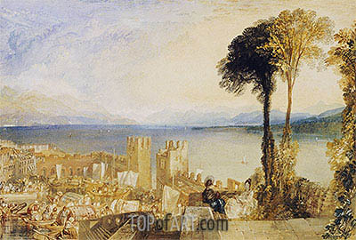 Arona, Lago Maggiore, undated | J. M. W. Turner | Painting Reproduction