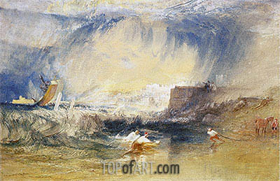 Lyme Regis, Dorset, England, c.1834 | J. M. W. Turner | Painting Reproduction