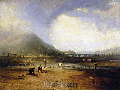 The Trout Stream, 1809 | J. M. W. Turner | Painting Reproduction