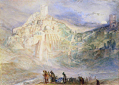 Wilderness at Engedi and Convent of Santa Saba, undated | J. M. W. Turner | Painting Reproduction