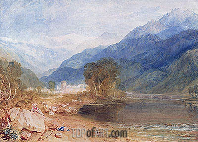 Bonneville, Savoy, undated | J. M. W. Turner| Painting Reproduction