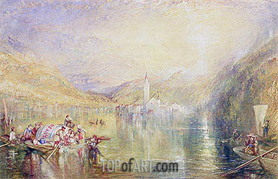 Kussnacht, Lake of Lucerne, Switzerland, 1843 | J. M. W. Turner | Painting Reproduction