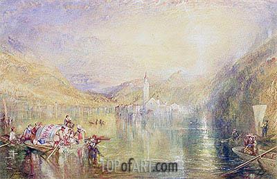 J. M. W. Turner | Kussnacht, Lake of Lucerne, Switzerland, 1843