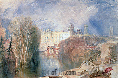 Warwick Castle, undated | J. M. W. Turner| Painting Reproduction