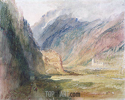 Bonhomme Convent, Chamonix, c.1836/42 | J. M. W. Turner | Painting Reproduction