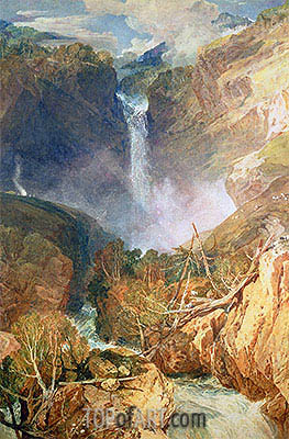 The Great Falls of the Reichenbach, 1804 | J. M. W. Turner| Painting Reproduction