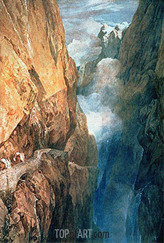 Passage of Mount St. Gotthard from the Devil's Bridge, 1804 | J. M. W. Turner | Painting Reproduction
