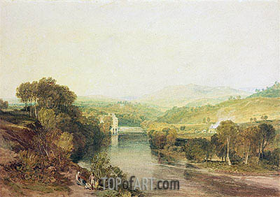 Addingham Mill on the Wharfe, West Yorkshire, c.1808 | J. M. W. Turner | Painting Reproduction