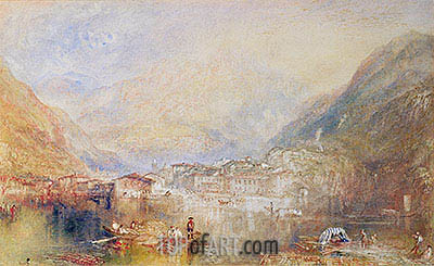J. M. W. Turner | Brunnen from the Lake of Lucerne, 1845