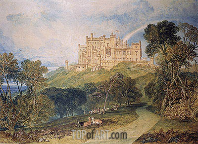View of Belvoir Castle, 1816 | J. M. W. Turner | Painting Reproduction