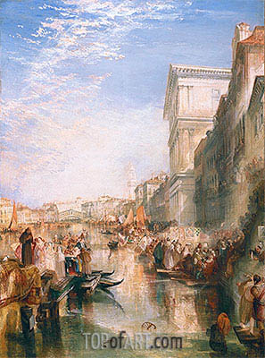 The Grand Canal (A Street in Venice), c.1837 | J. M. W. Turner | Painting Reproduction