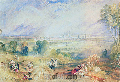 Oxford from North Hinksey, undated | J. M. W. Turner| Painting Reproduction