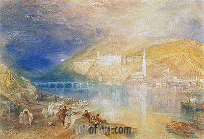 Heidelberg: Sunset, c.1840/42 | J. M. W. Turner| Painting Reproduction