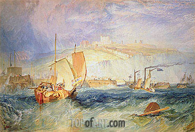 Dover Castle from the Sea, 1822 | J. M. W. Turner| Painting Reproduction
