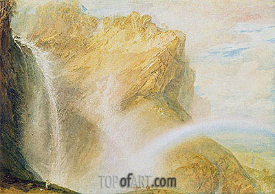 Upper Falls, Reichenbach , c.1802 | J. M. W. Turner | Painting Reproduction
