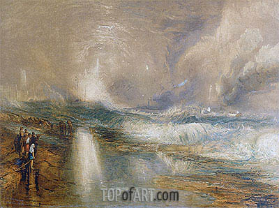 Rockets and Blue Lights, 1855 | J. M. W. Turner | Painting Reproduction