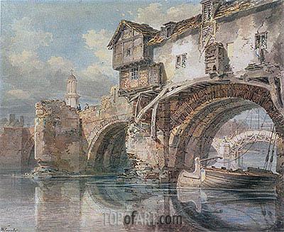 J. M. W. Turner | Old Welsh Bridge, Shrewsbury, 1794