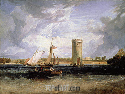 Tabley, the Seat of Sir J.F. Leicester (Windy Day), undated | J. M. W. Turner| Painting Reproduction