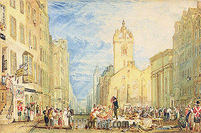 High Street, Edinburgh, c.1818 | J. M. W. Turner | Painting Reproduction