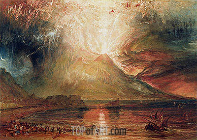 Mount Vesuvius in Eruption, 1817 | J. M. W. Turner| Painting Reproduction