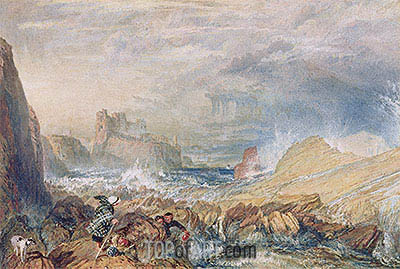 Tantallon Castle, 1821 | J. M. W. Turner| Painting Reproduction