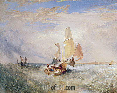 Now for the Painter (Rope) - Passengers Going on Board, 1827 | J. M. W. Turner | Painting Reproduction
