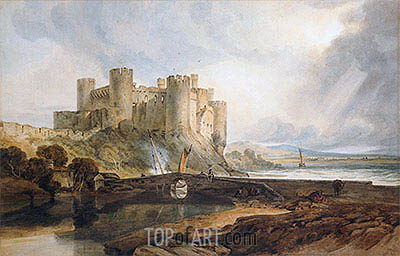 Conway Castle, c.1802 | J. M. W. Turner | Painting Reproduction
