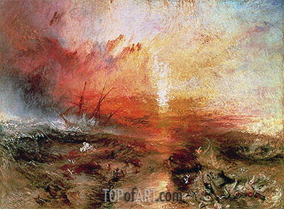 Slave Ship (Slavers Throwing Overboard the Dead and Dying, Typhoon Coming On), 1840 | J. M. W. Turner | Painting Reproduction