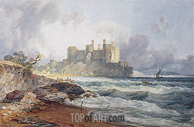 Conway Castle, undated | J. M. W. Turner| Painting Reproduction
