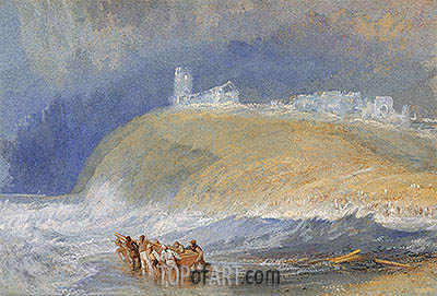 Dunstanborough Castle, Northumberland, c.1829 | J. M. W. Turner | Painting Reproduction