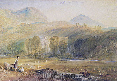 Valle Crucis Abbey, Denbighshire, c.1826 | J. M. W. Turner| Painting Reproduction