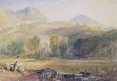 Valle Crucis Abbey, Denbighshire, c.1826 | J. M. W. Turner | Gemälde Reproduktion