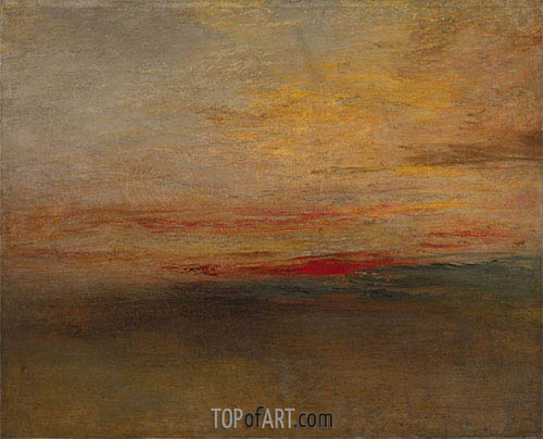 Sunset, c.1830/35 | J. M. W. Turner| Painting Reproduction