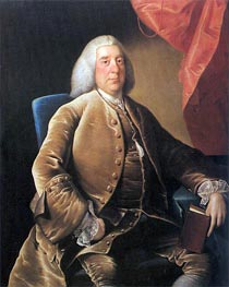 Portrait of William Brooke, 1760 by Wright of Derby | Painting Reproduction