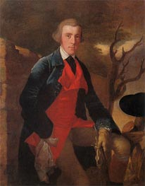 Portrait of Edward Becher Leacroft, c.1763 by Wright of Derby | Painting Reproduction