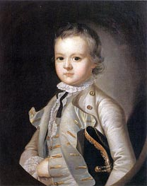 Portrait of Harvey Wilmot, c.1760 by Wright of Derby | Painting Reproduction