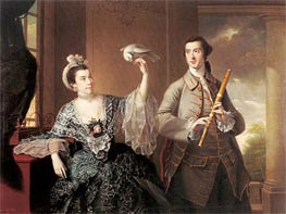 Portrait of Mr and Mrs William Chase, 1760 by Wright of Derby | Painting Reproduction