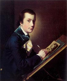 Portrait of Samuel Rastall, c.1762/64 by Wright of Derby | Painting Reproduction