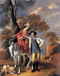 Portrait of Mr and Mrs Coltman, 1771 by Wright of Derby | Painting Reproduction