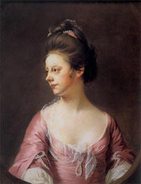 Portrait of Mrs Catherine Swindell, c.1769/71 by Wright of Derby | Painting Reproduction