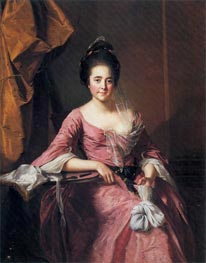 Portrait of a Lady with her Lacework, c.1770 by Wright of Derby | Painting Reproduction