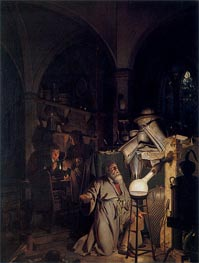 The Alchymist in Search of the Philosopher's Stone, 1771 by Wright of Derby | Painting Reproduction